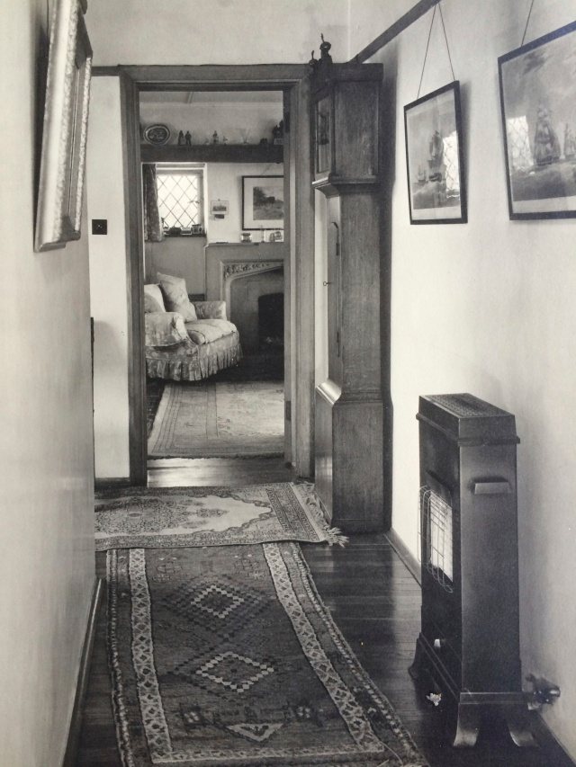 This is looking down the hall from the kitchen towards the drawing room
