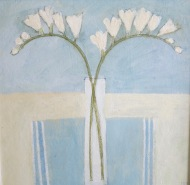 White flowers/Acrylic/42x42/£650