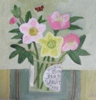 Lenten Roses/Acrylic/34x34cm/£550