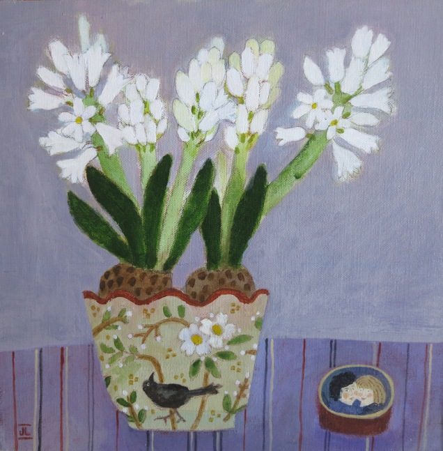 "Spring Flowers/11x11""/Acrylic on Board"