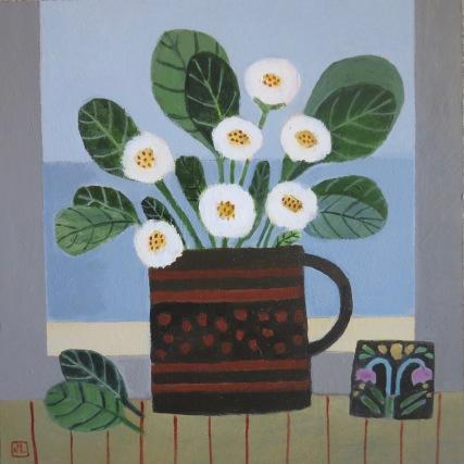 "Daisies on the Windowsill/10x10""/Acrylic on Board"