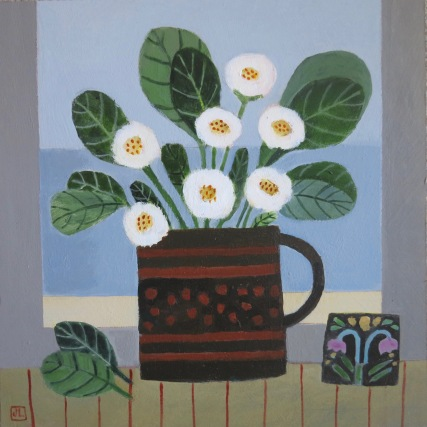 "Daisies on the Windowsill/10x10""/Acrylic on Board"